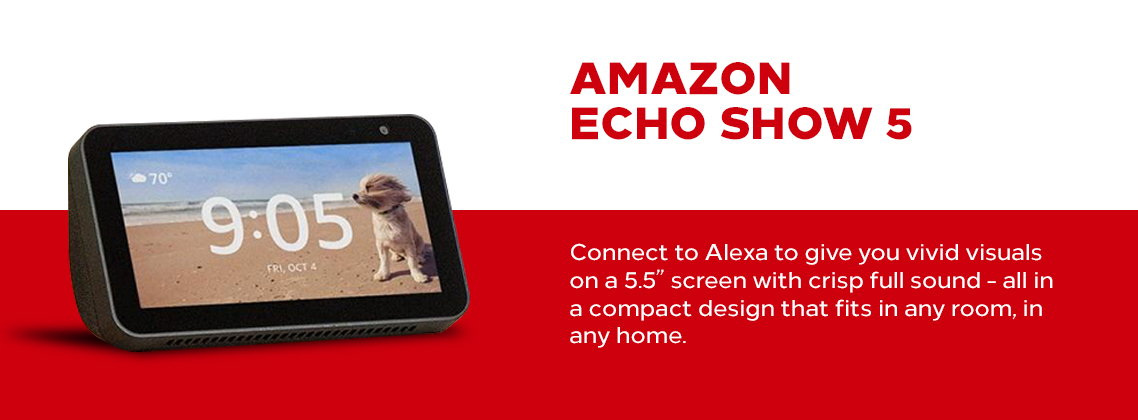 slide Amazon Echo Show 5